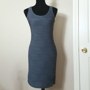NY Collection Grey Bodycon Dress Size Petite Small